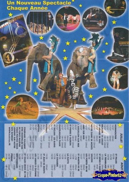 Flyer du Cirque Kino's (n°21)