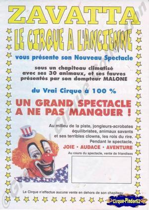 Flyer du Cirque Zavatta (n°7)