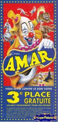 Flyer du Cirque Amar-2000 (n°138)