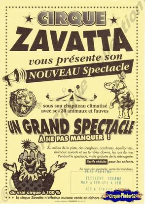 Flyer du Cirque Zavatta (n°143)