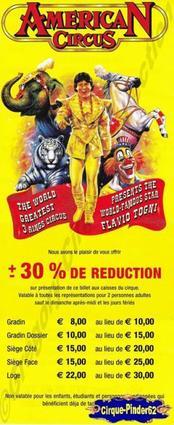 Flyer de l'American Circus-2003 (n°197)