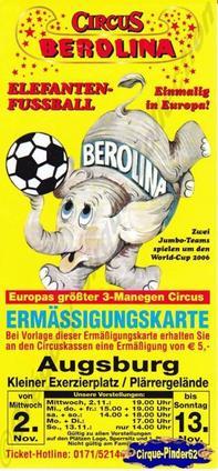 Flyer du Circus Berolina (n°185)
