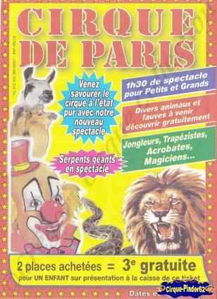 Flyer du Cirque de Paris-2012 (n°172)
