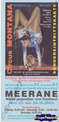 Flyer du Circus Montana-2004 (n°181)