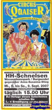 Flyer du Circus Quaiser-2007 (n°187)