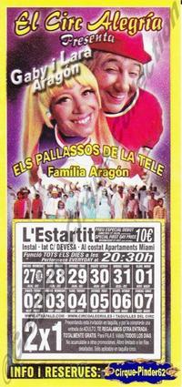 Flyer du Circo Alegria (n°179)