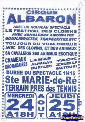 Flyer du Cirque Albaron-2011 (n°247)