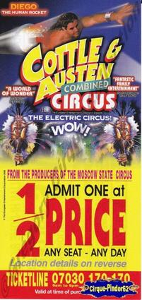 Flyer du Cottle et Austen Combined Circus-2005 (n°234)