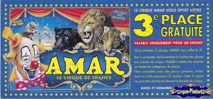 Flyer du Cirque Amar-2003 (n°299)