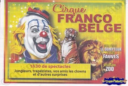 Flyer du Cirque Franco Belge-2012 (n°287)