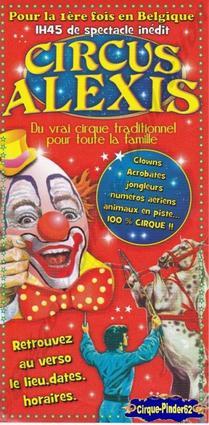Flyer du Circus Alexis (n°363)