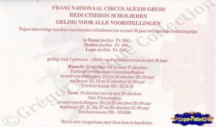 Flyer du Cirque Gruss (Alexis)-199- (n°398)