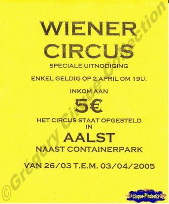 Flyer du Wiener Circus-2005 (n°400)