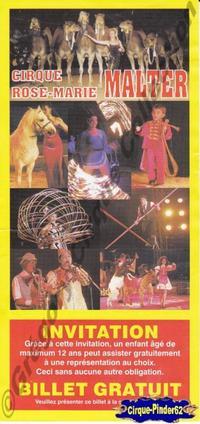 Flyer du Circus Rose-Marie Malter (n°406)