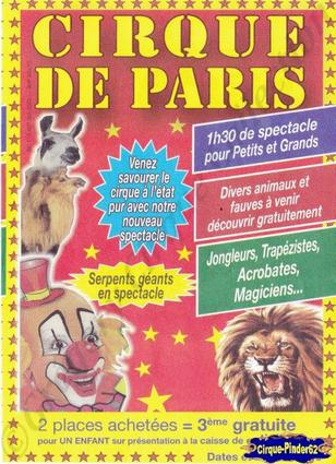 Flyer du Cirque de Paris-2013 (n°417)