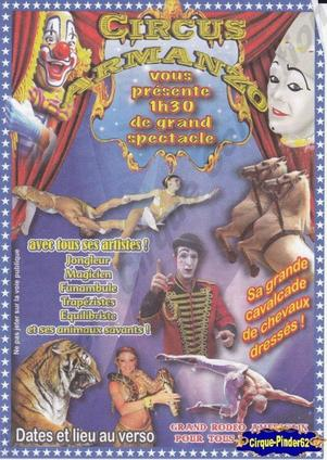 Flyer du Circus Armanzo (n°436)