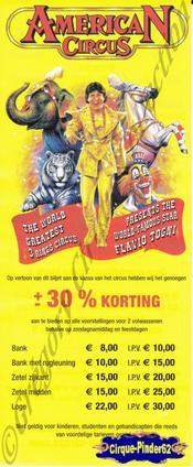 Flyer de l'American Circus-2003 (n°568)