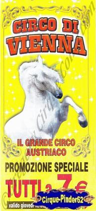 Flyer du Circo di Vienna (n°457)