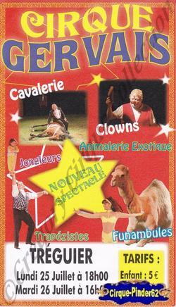 Flyer du Cirque Gervais (n°486)
