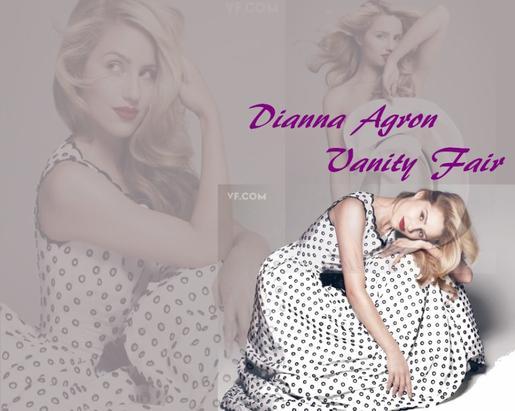 Dianna Agron pose pour Vanity Fair