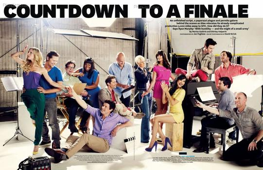 "Le casting de Glee dans ""The Hollywood Reporter"""