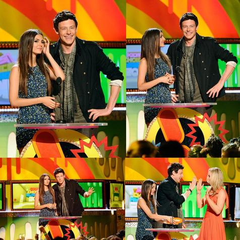 Victoria Justice & Cory Monteith aux 24e Nickelondeon Kids Choice Award