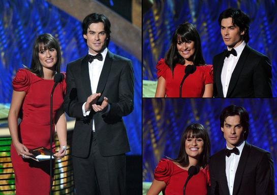 Lea Michele & Ian Somerhalder présentent ensemble aux Emmy Awards 2011