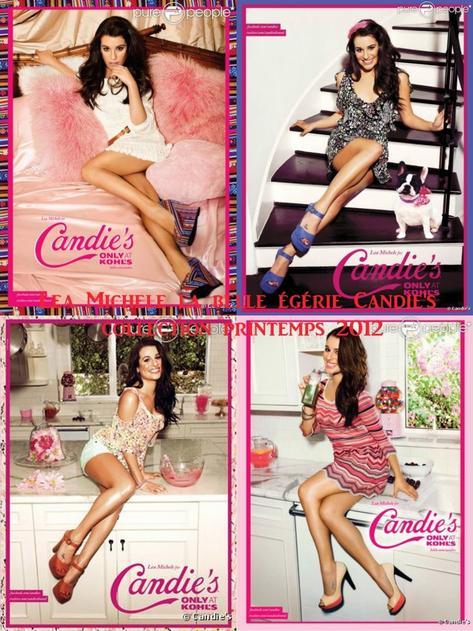 Lea Michele le nouvelle égérie Candie's 2012<3