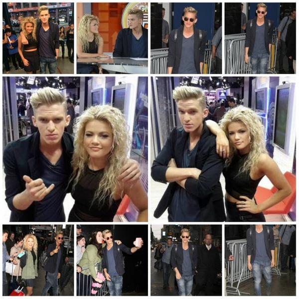 15 avril: Cody arrivant au studio Good Morning America à New York