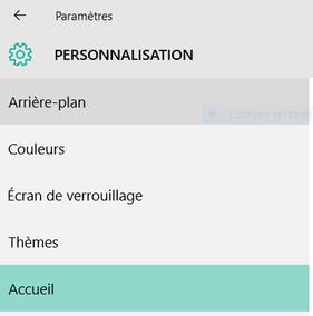 Utiliser le menu Démarrer en plein écran - Windows 10.