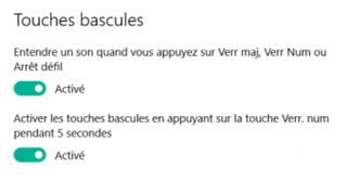 Jouer un son lorsque vous pressez les touches Verr Maj ou Verr Num - Windows 10.