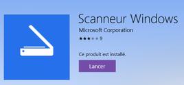 """Windows Scan : une application """"gratuite"""" bien pratique !"""