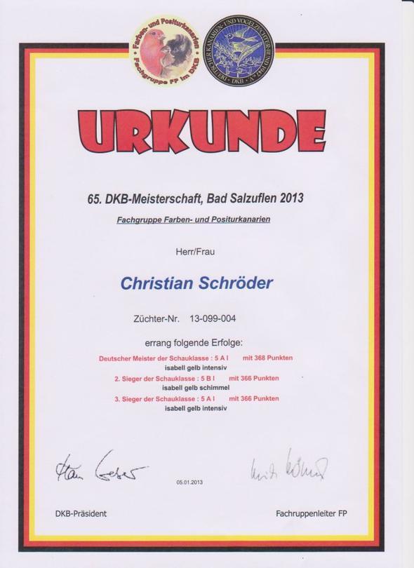 65. Deutsche Meisterschaft 2013