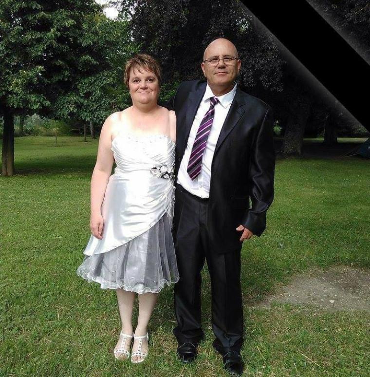 Moi et ma femme au mariage de ma belle soeur