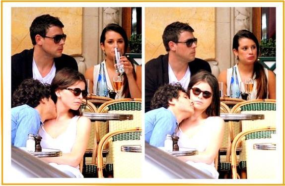 Candids Léa Michele et Cory Monteith à Paris
