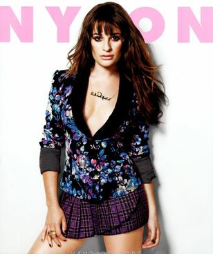 Lea Michele en couverture du Magasine Nylon