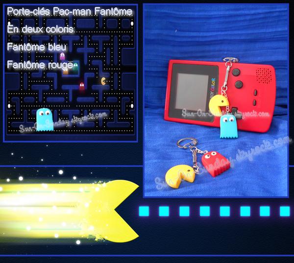 Porte clés Pac-Man et son fantôme