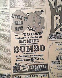 Anniversaire de sortie : Dumbo