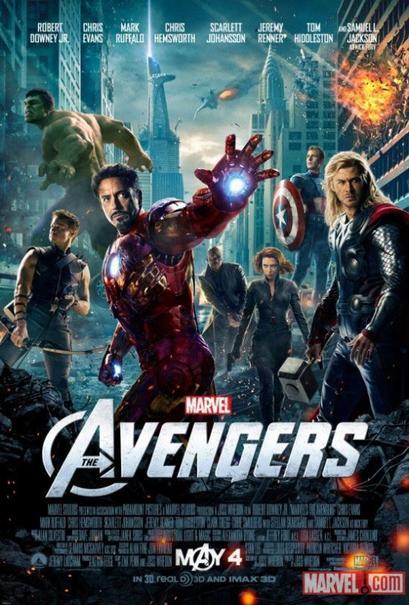 The Avengers - Robert Downey Jr., Chris Evans, Mark Ruffalo, Scarlett Johansson, Chris Hemsworth
