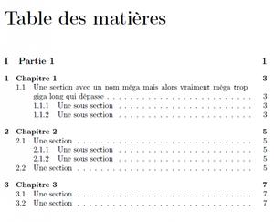 Table des matières ^^
