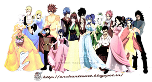 fairy tail  en pirnce et princesse