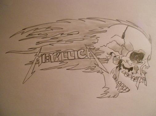 Un autre de mes dessins : Metallica
