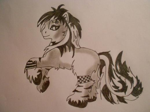 Un autre de mes dessins : un petit poney pour Dorian :3 <3