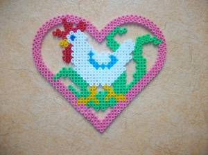 Poule perle Hama