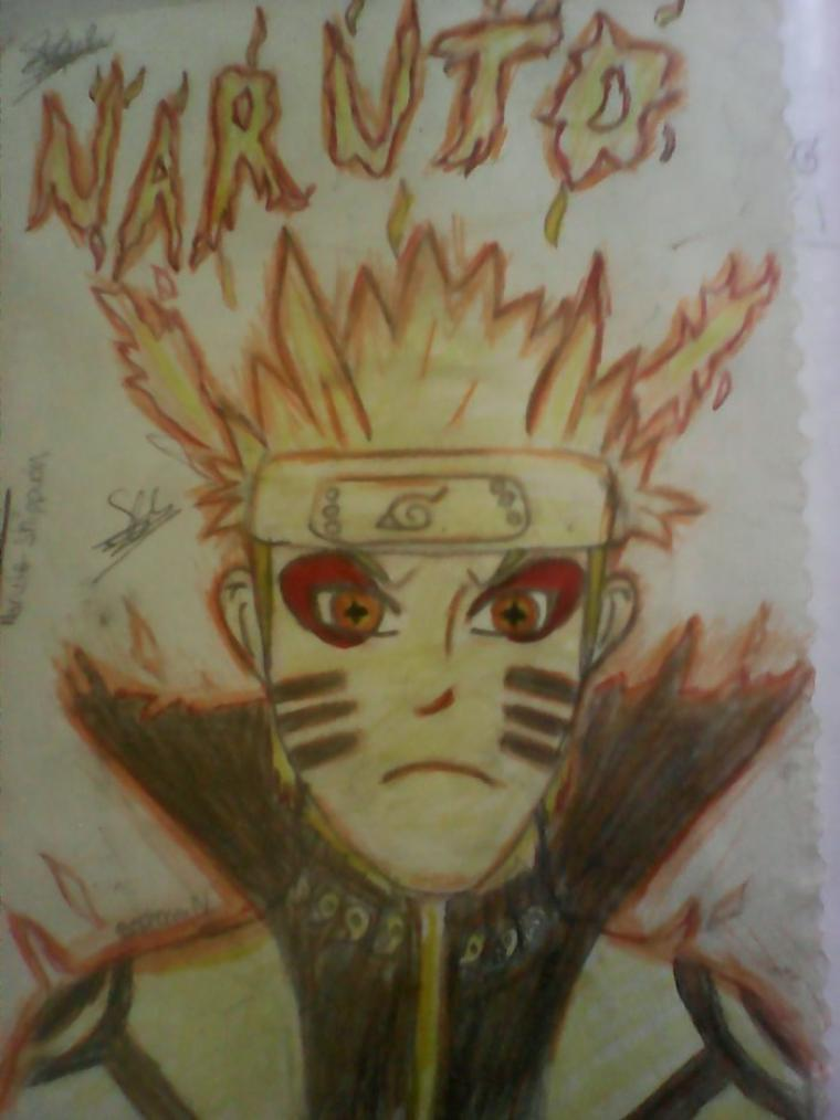 Naruto mode kyubi + érmite