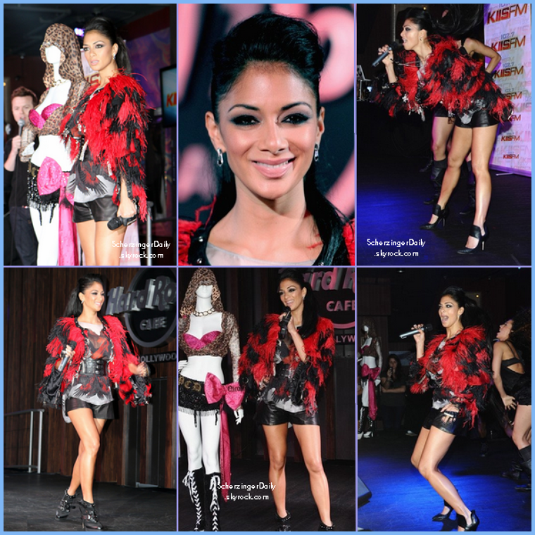 -- Mercredi 03 Août 2011 : Nicole au Hard Rock Cafe à Hollywood pour KIIS FM .. --