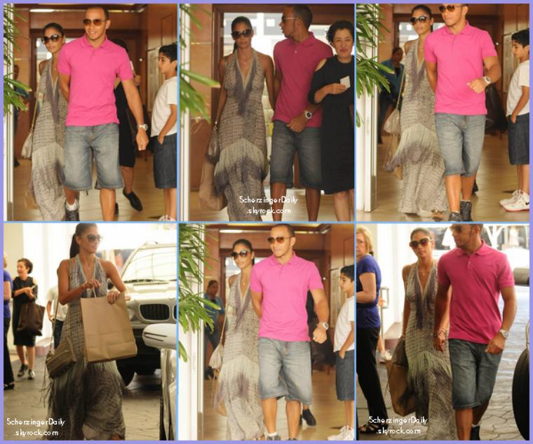 -- Mardi 16 Août 2011 : Nicole et Lewis quittent le restaurant El Baldi à Los Angeles.. --