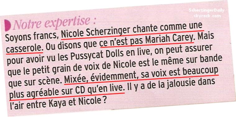 -- ScherzingerDaily répond à un article du magazine Public de cette semaine.. --