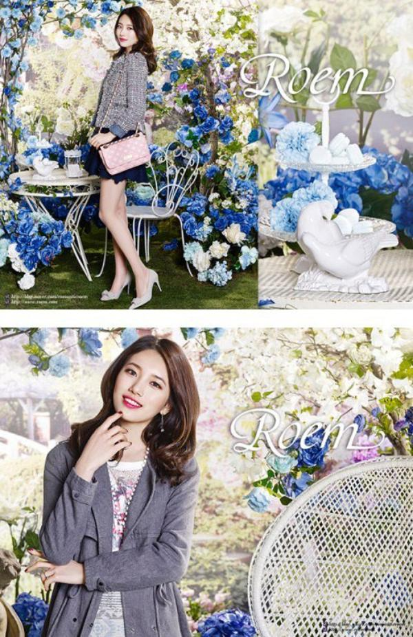 """사진     Bae Suzy du groupe Miss A  pose pour  """"Roem's"""", vêtements de printemps"""