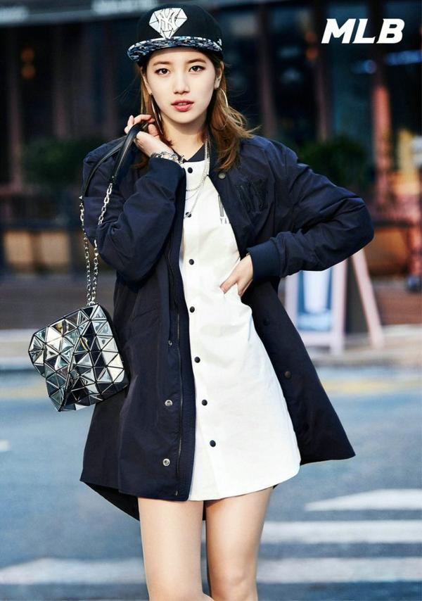 """사진     Bae Suzy du groupe Miss A   pour  """"MLB Korea""""  2015"""